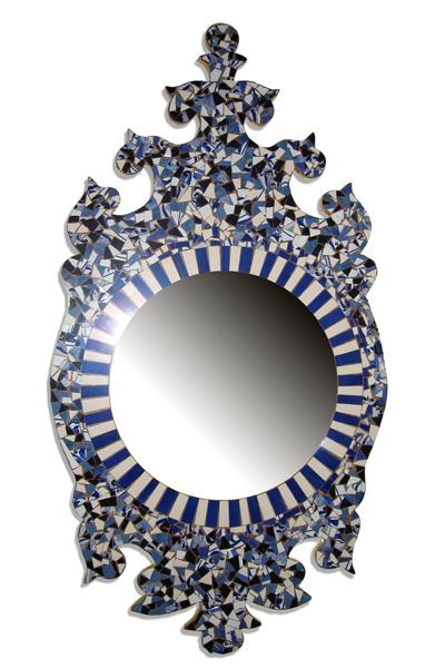 espejo de azulejo